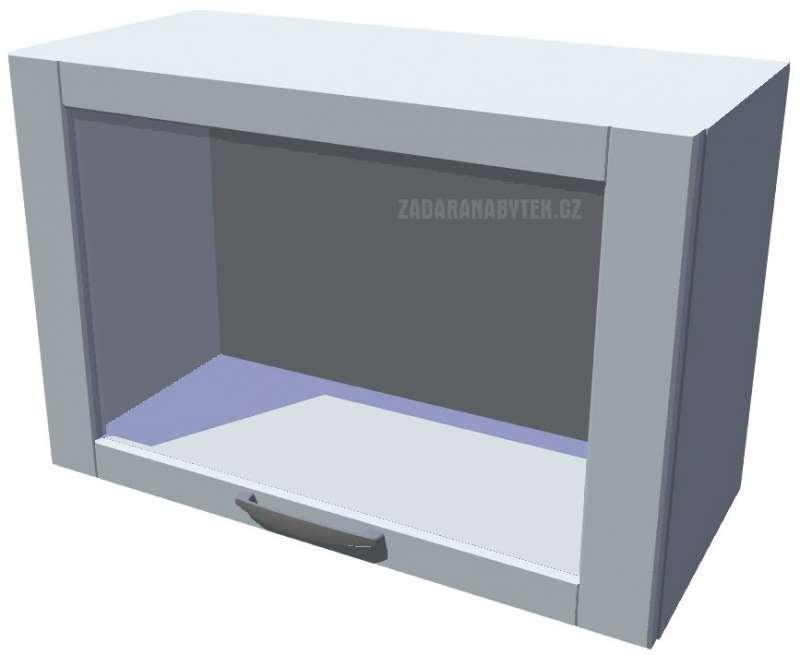Horní skříňka výklopná prosklená 60 cm