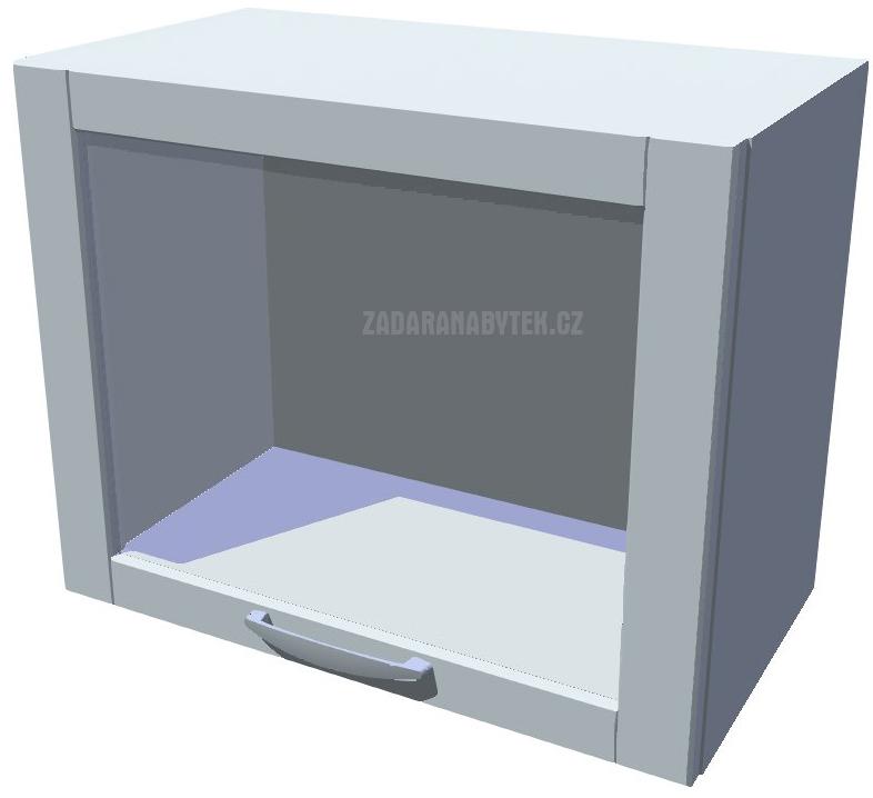 Horní skříňka výklopná prosklená 50 cm