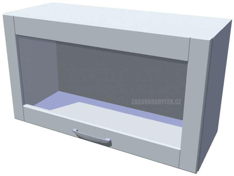 Horní skříňka výklopná prosklená Diana 70 cm