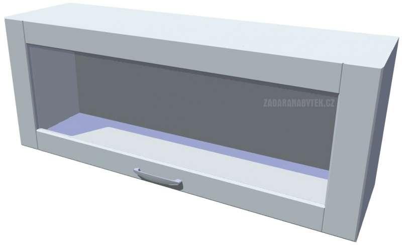 Horní skříňka výklopná prosklená 100 cm