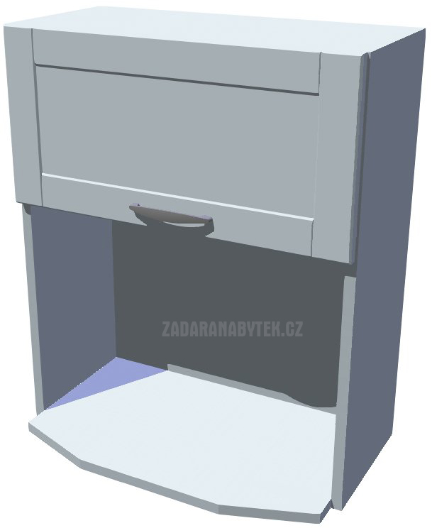 Horní skříňka na mikrovlnku, výklopná