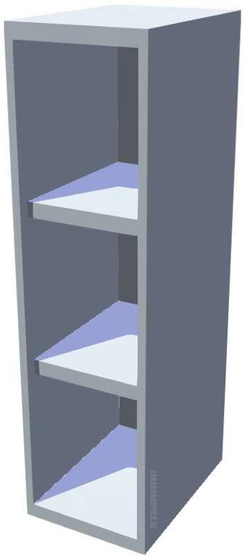 Horní policová kuchyňská skříňka 20 cm