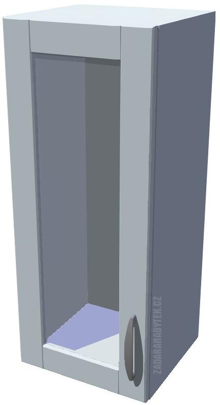 Horní kuchyňská skříňka prosklená 30 cm 1D