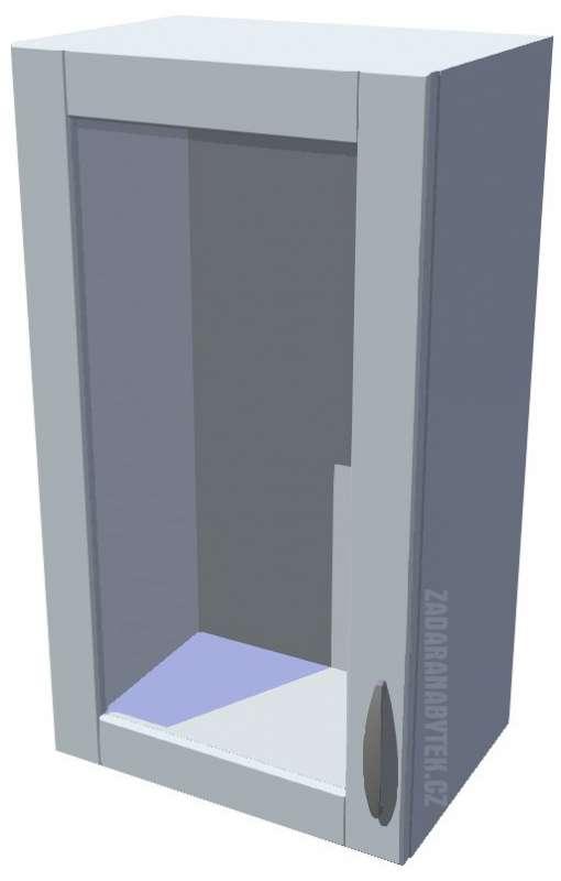 Horní kuchyňská skříňka prosklená 40 cm 1D