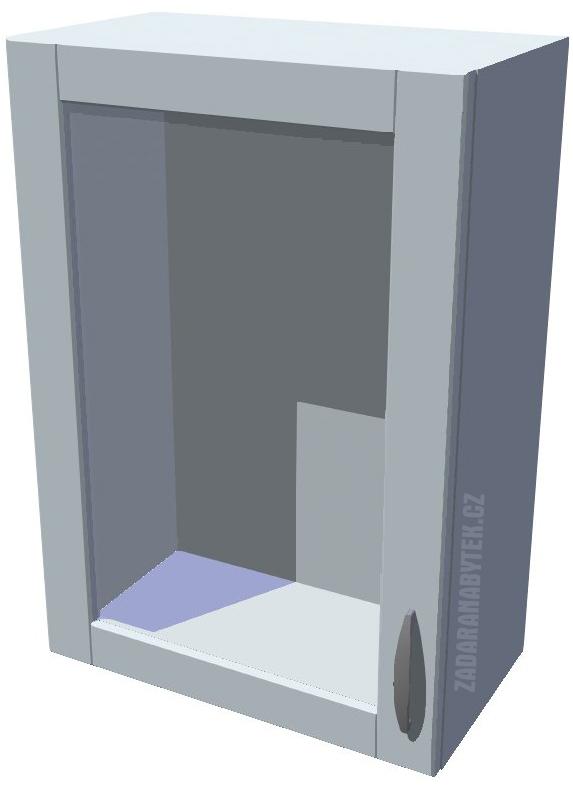 Horní kuchyňská skříňka prosklená 50 cm 1D