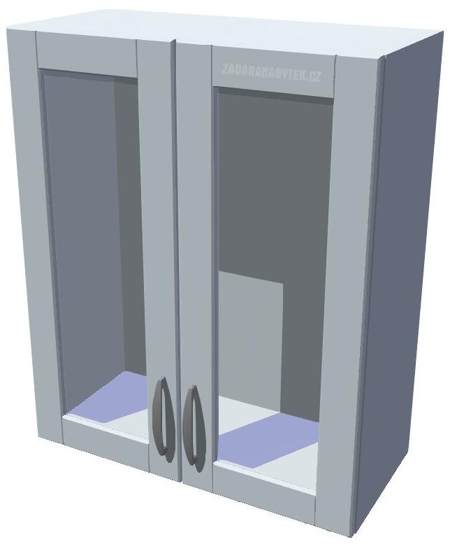Horní kuchyňská skříňka prosklená 60 cm 2D