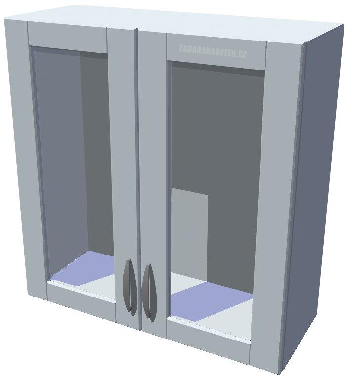 Horní kuchyňská skříňka prosklená 70 cm 2D