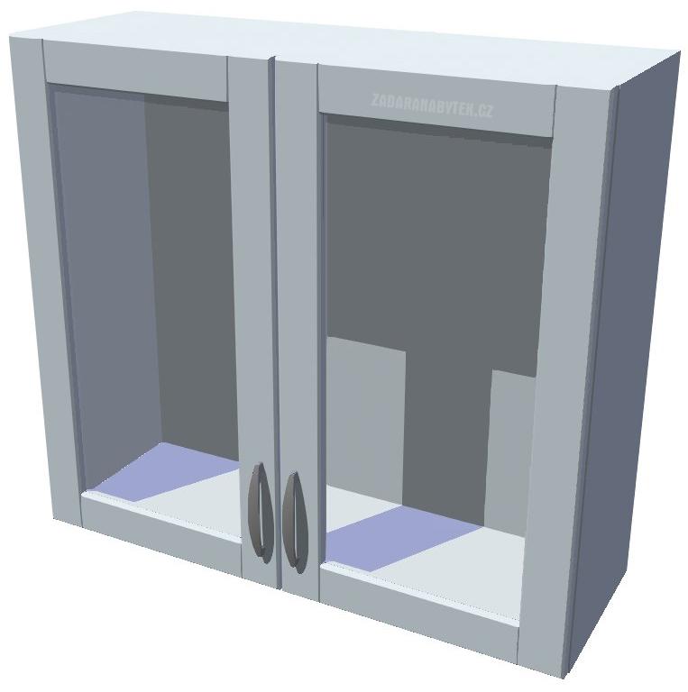 Horní kuchyňská skříňka prosklená 80 cm 2D