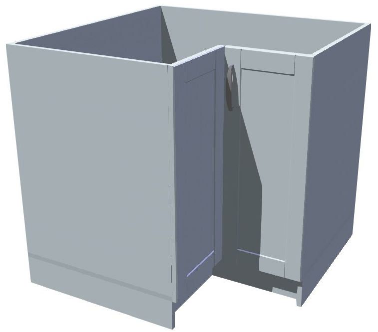 Spodní kuchyňská rohová skříňka drátěný program
