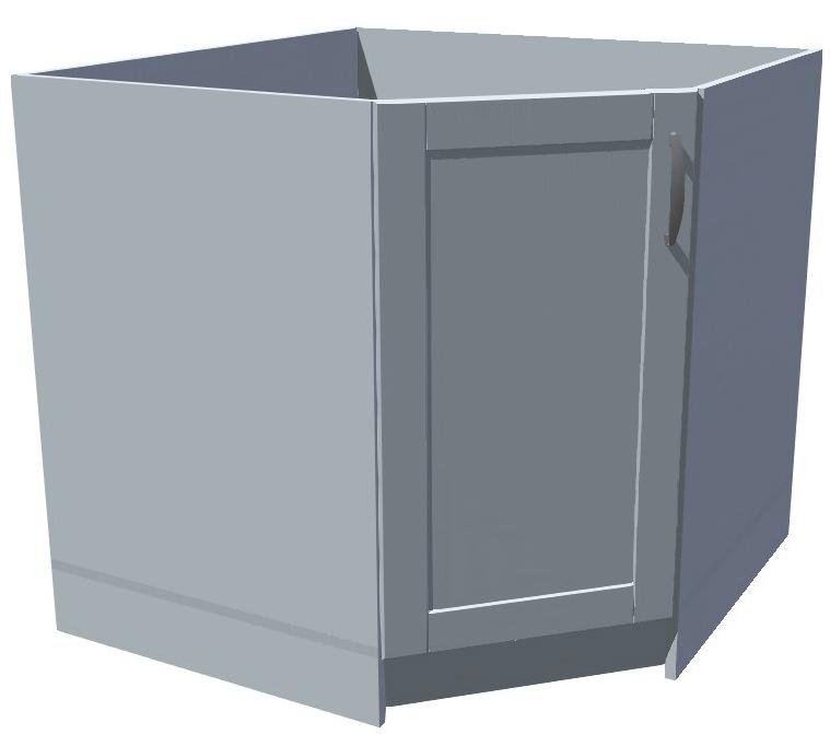 Spodní rohová kuchyňská skříňka zkosená