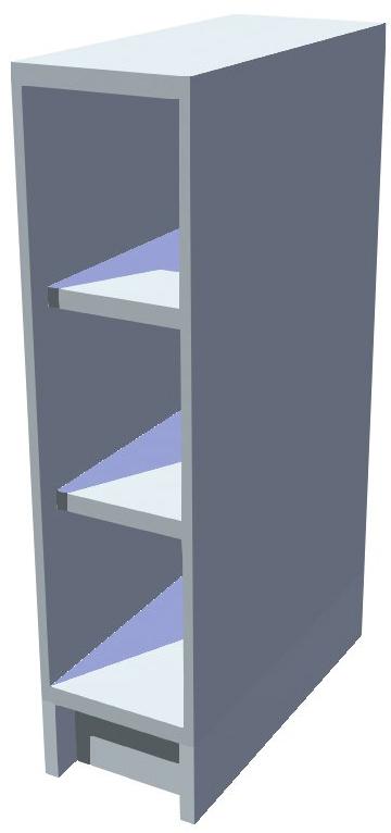 Spodní policová kuchyňská skříňka 20 cm