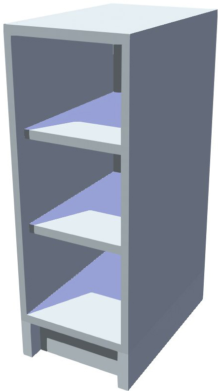 Spodní policová kuchyňská skříňka 30 cm