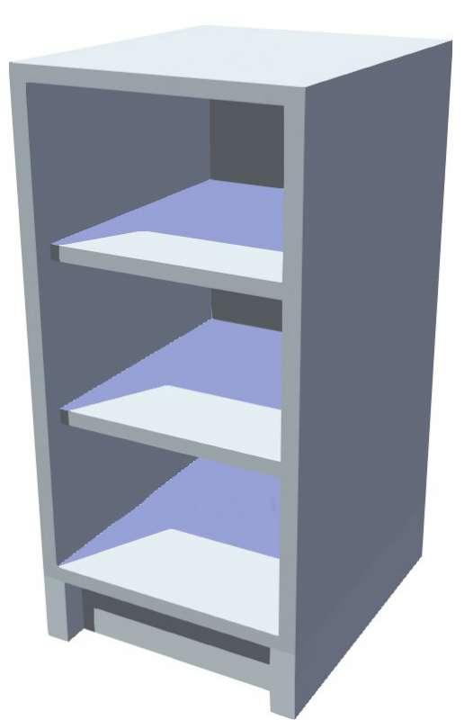 Spodní policová kuchyňská skříňka 40 cm