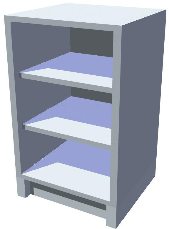 Spodní policová kuchyňská skříňka 50 cm