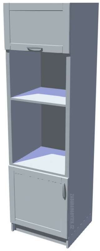 Skříň pro vestavnou troubu a mikrovlnku vysoká 206 cm