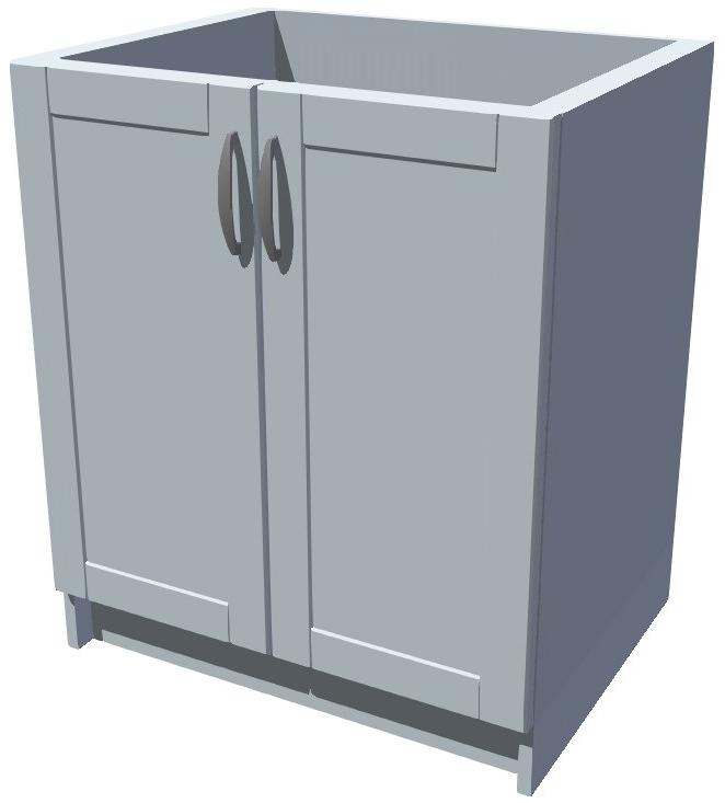 Dřezová kuchyňská skříňka 70 cm 2D dřez