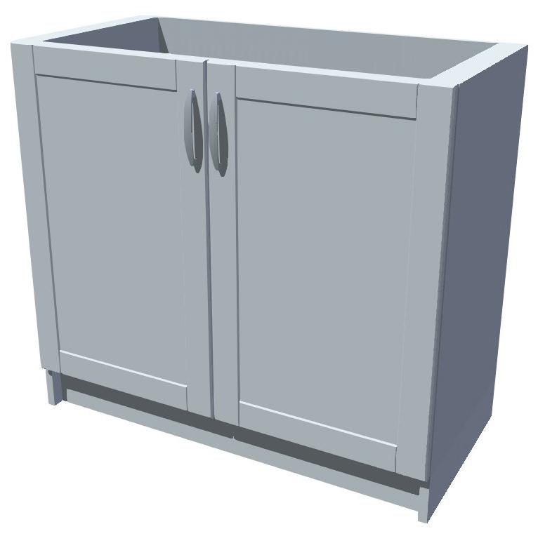 Dřezová kuchyňská skříňka 90 cm 2D dřez