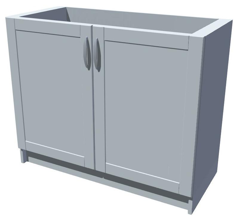 Dřezová kuchyňská skříňka 100 cm 2D dřez