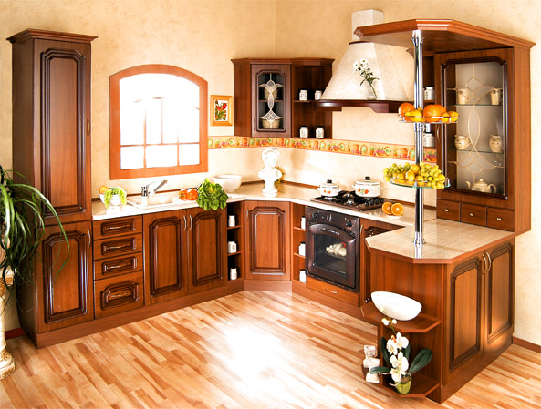 Rustikální rohová kuchyně Bolero