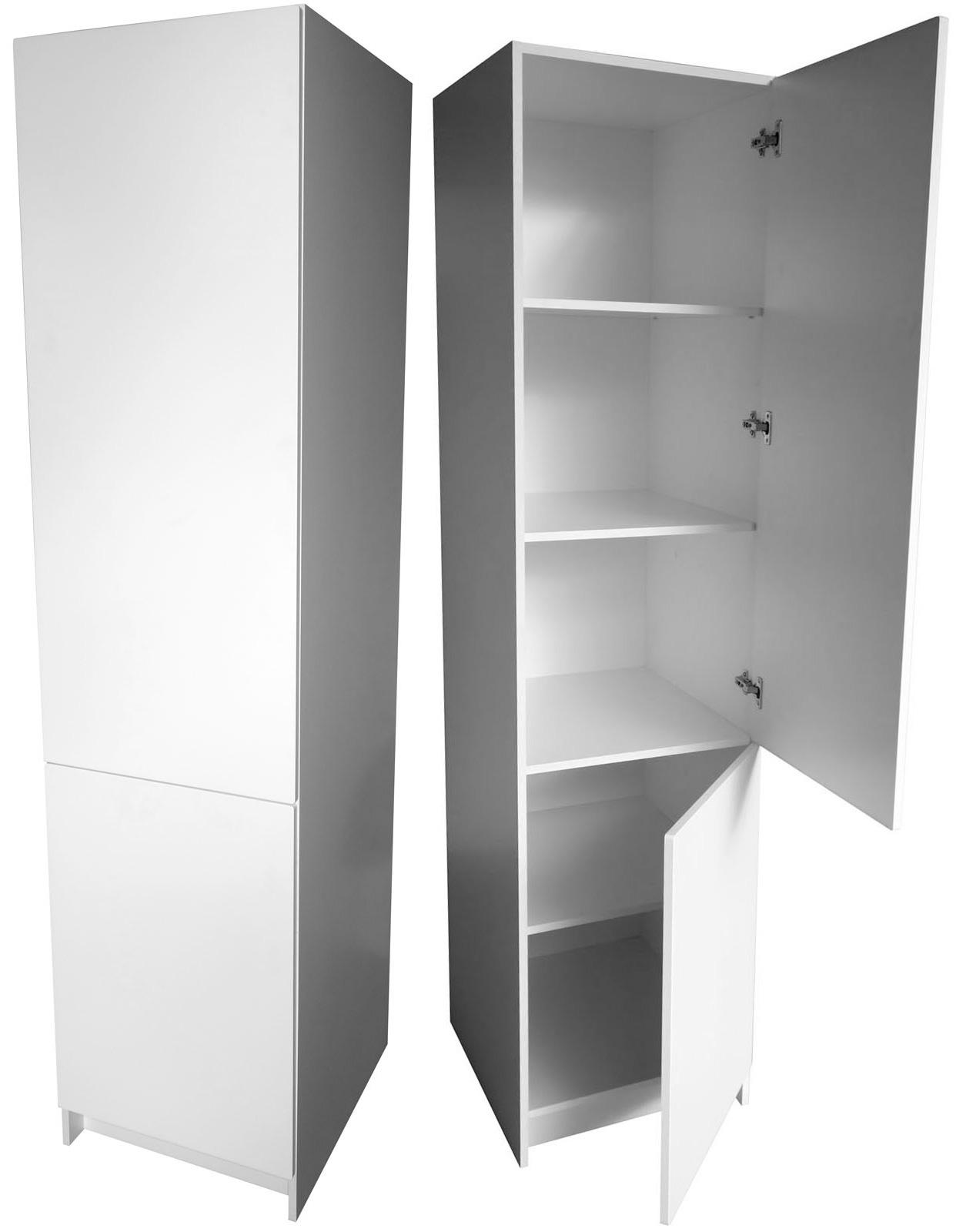 Bílá potravinová skříň 50 cm pravá