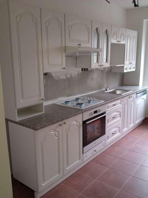 Paneláková kuchyně Leška Bílé dřevo