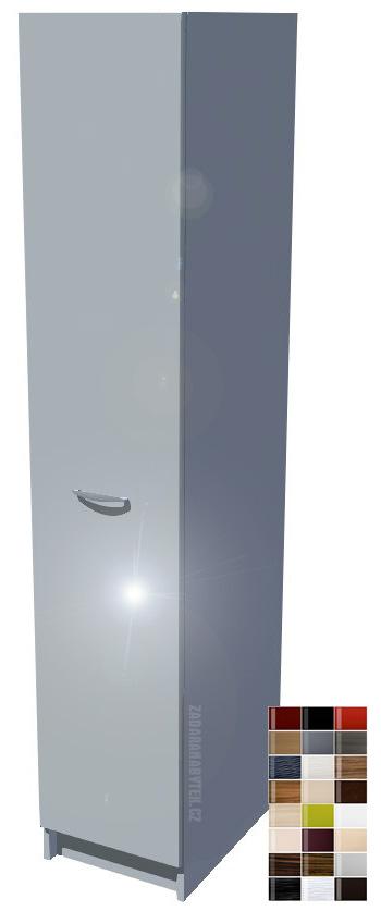 Lesklá potravinová skříň s drátěným programem a dojezdem 40 cm