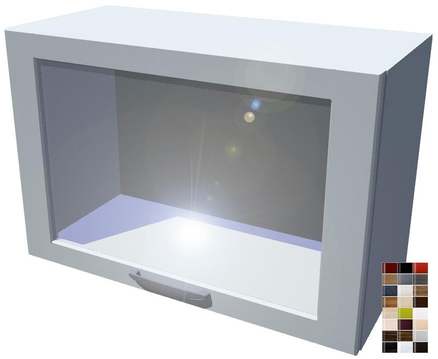 Lesklá skříňka výklopná prosklená Carmen 70 cm