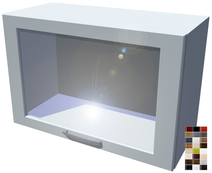 Lesklá výklopná skříňka vitrína 70 cm