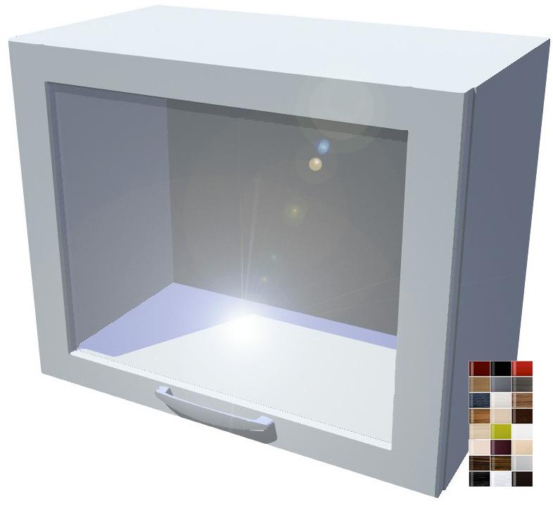 Lesklá skříňka výklopná prosklená Carmen 50 cm
