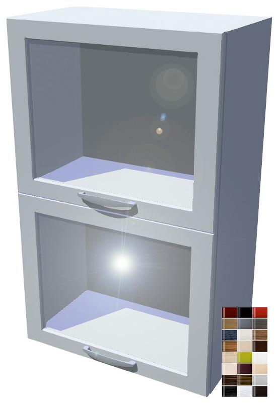 Lesklý dvojitý výklop vitrína 50 cm