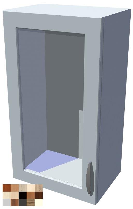 Horní skříňka Tina vitrína 1D 40 cm