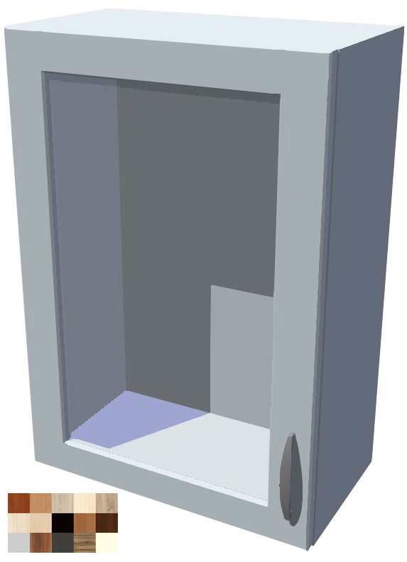 Horní skříňka Tina vitrína 1D 50 cm