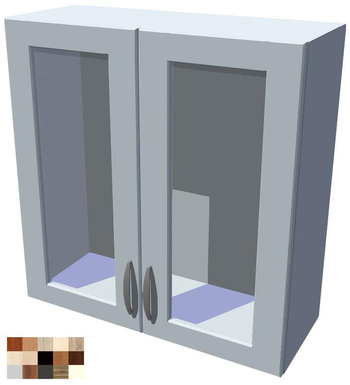 Horní skříňka Tina vitrína 2D 70 cm