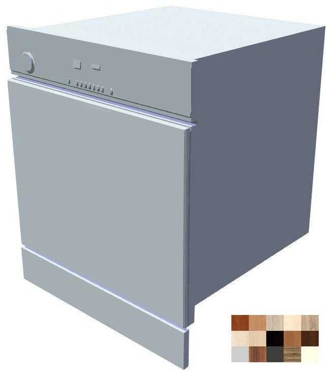 Dvířka k vestavné myčce s ovládacím panelem Tina 60 cm