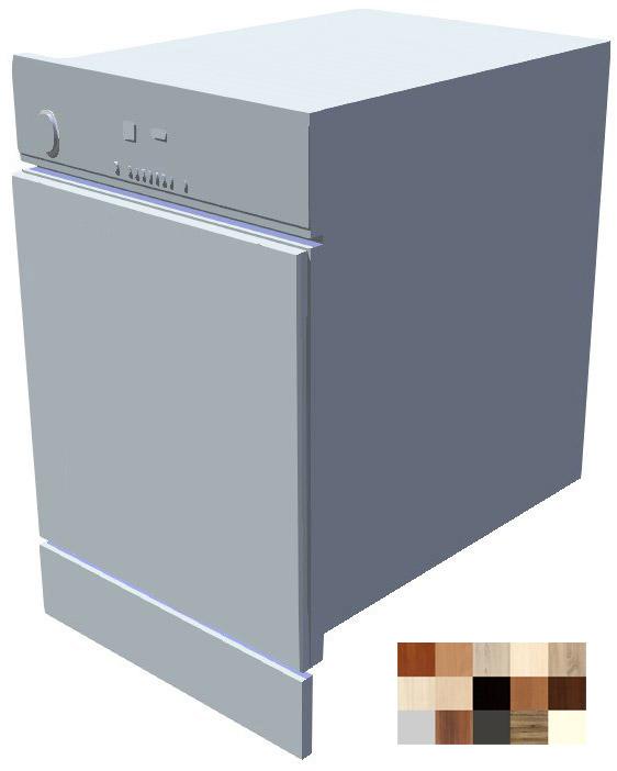 Dvířka k vestavné myčce s ovládacím panelem Tina 45 cm