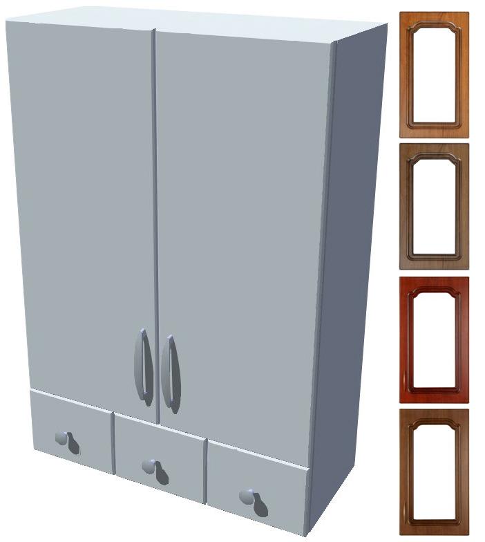 Rustikální horní skříňka se šuplíky Bolero
