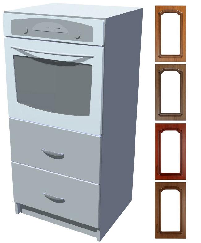 Rustikální skříň Bolero na vestavěnou troubu se šuplíky 60 cm