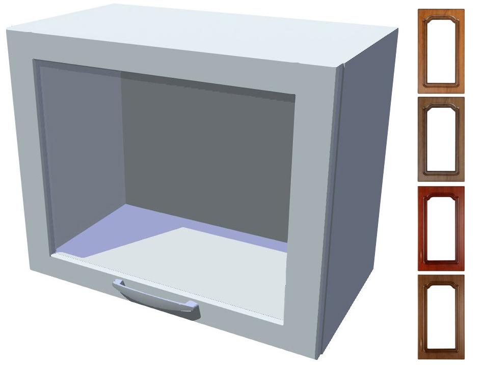 Rustikální výklopná prosklená skříňka Bolero 50 cm