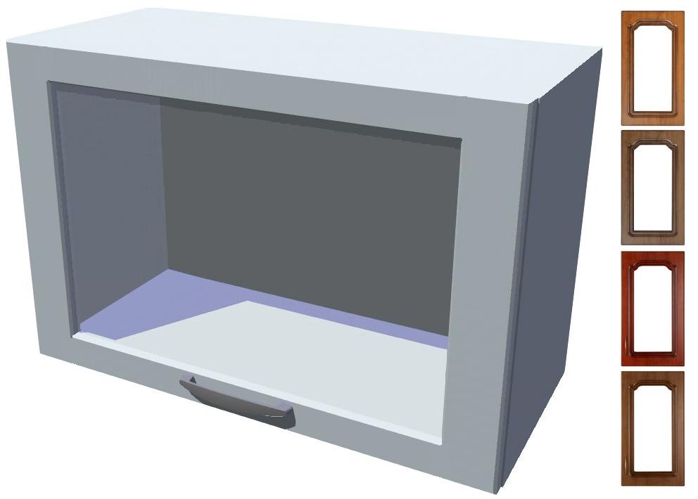 Rustikální výklopná prosklená skříňka Bolero 60 cm