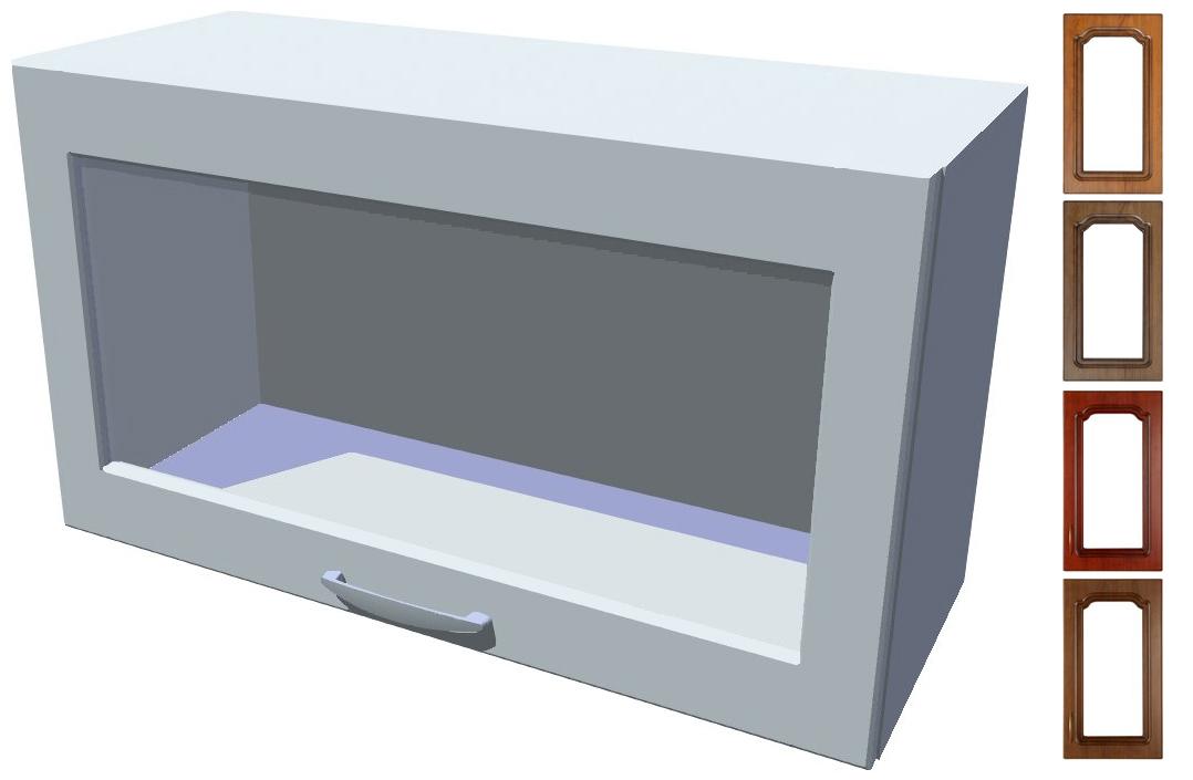 Rustikální výklopná prosklená skříňka Bolero 70 cm