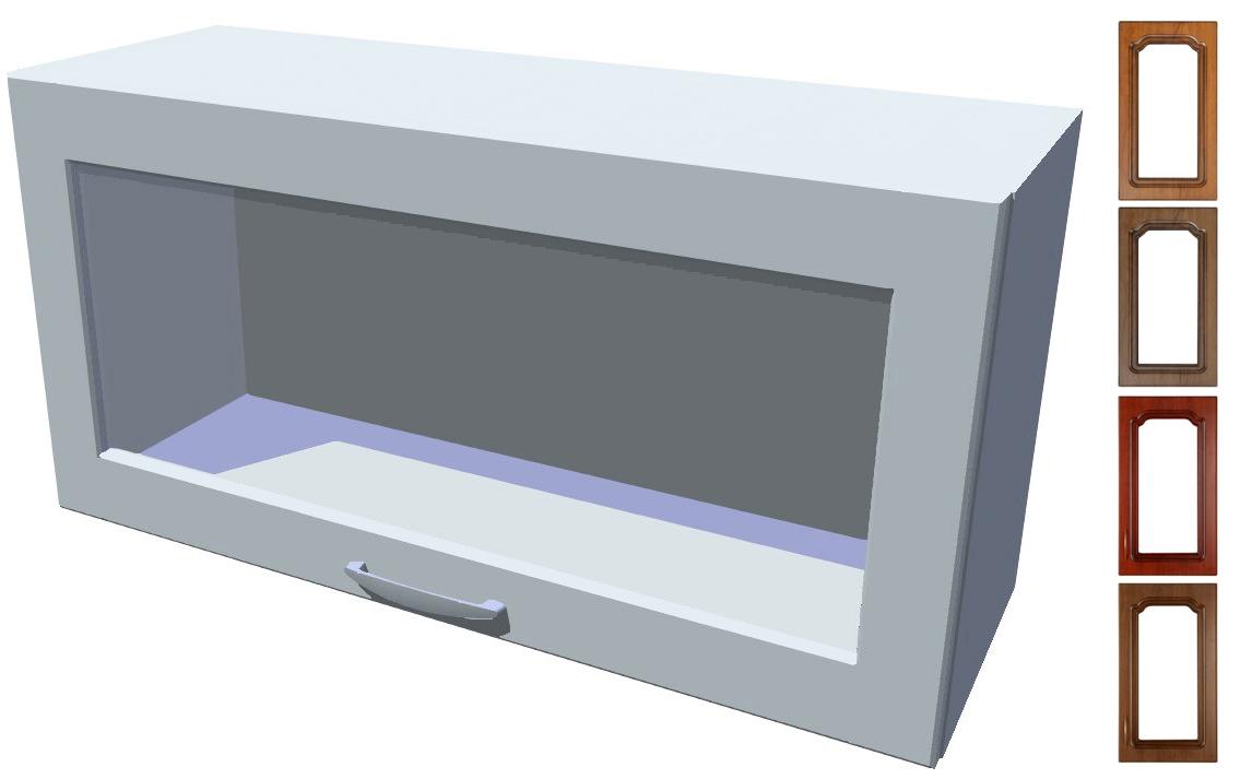 Rustikální výklopná prosklená skříňka Bolero 80 cm