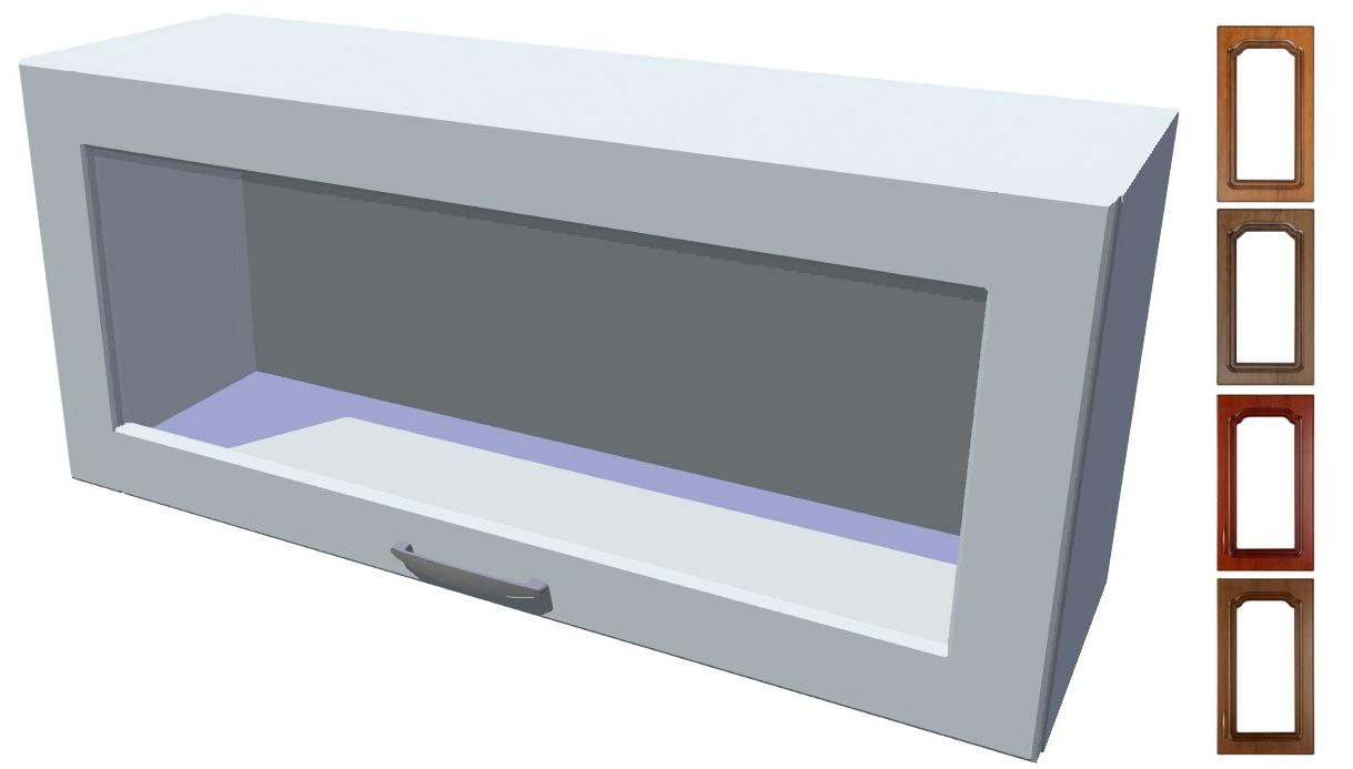 Rustikální výklopná prosklená skříňka Bolero 90 cm