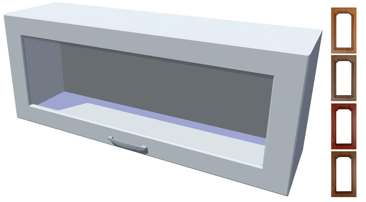 Rustikální výklopná prosklená skříňka Bolero 100 cm