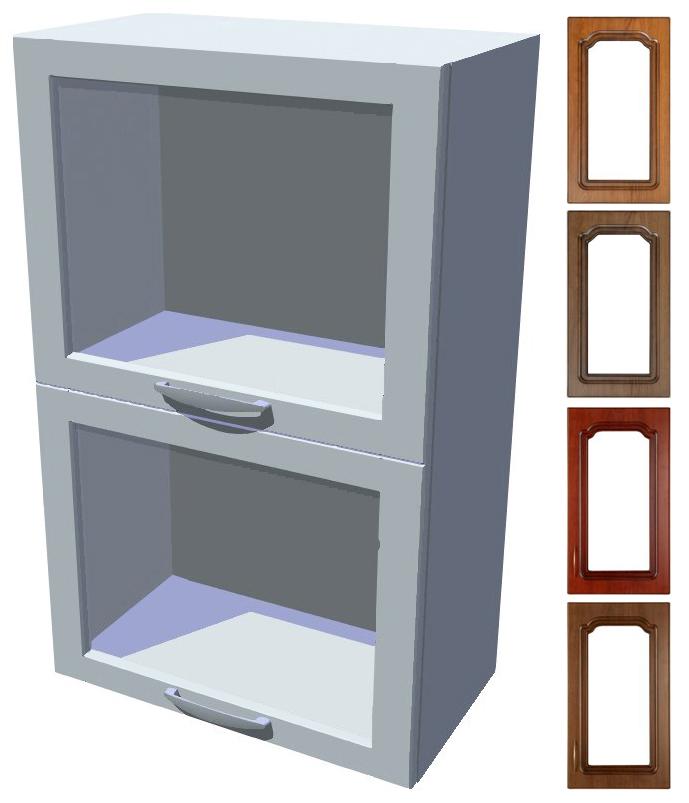 Rustikální skříňka dvojitý výklop Bolero 50 cm vitrína