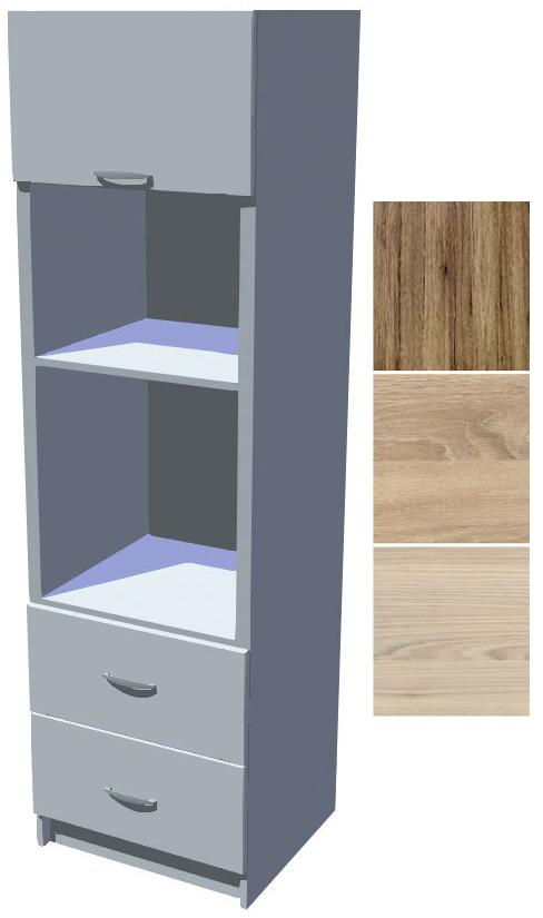 Kuchyňská skříň Iga na vestavěnou troubu a mikrovlnku se šuplíky