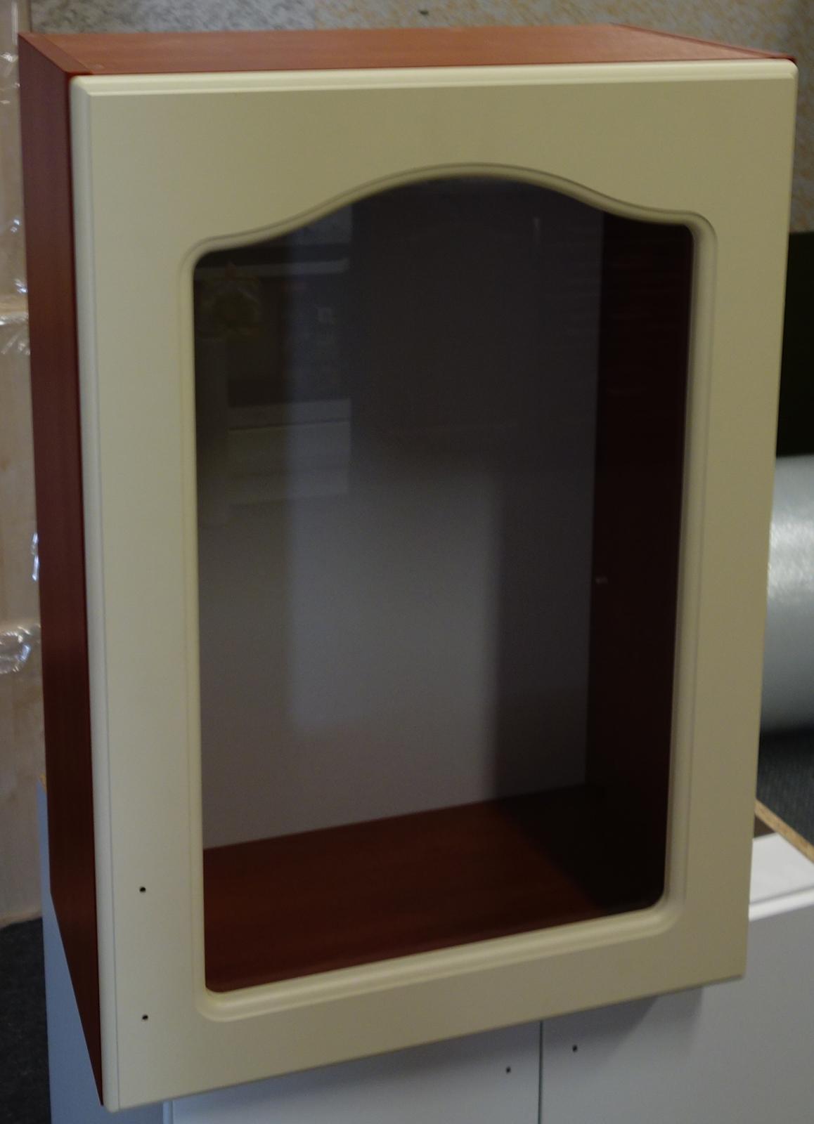 Horní kuchyňská skříňka vitrína 50 cm pravá - výprodej