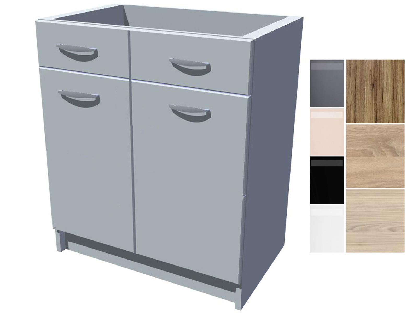 Dřezová kuchyňská skříňka Iga 2D 70 cm