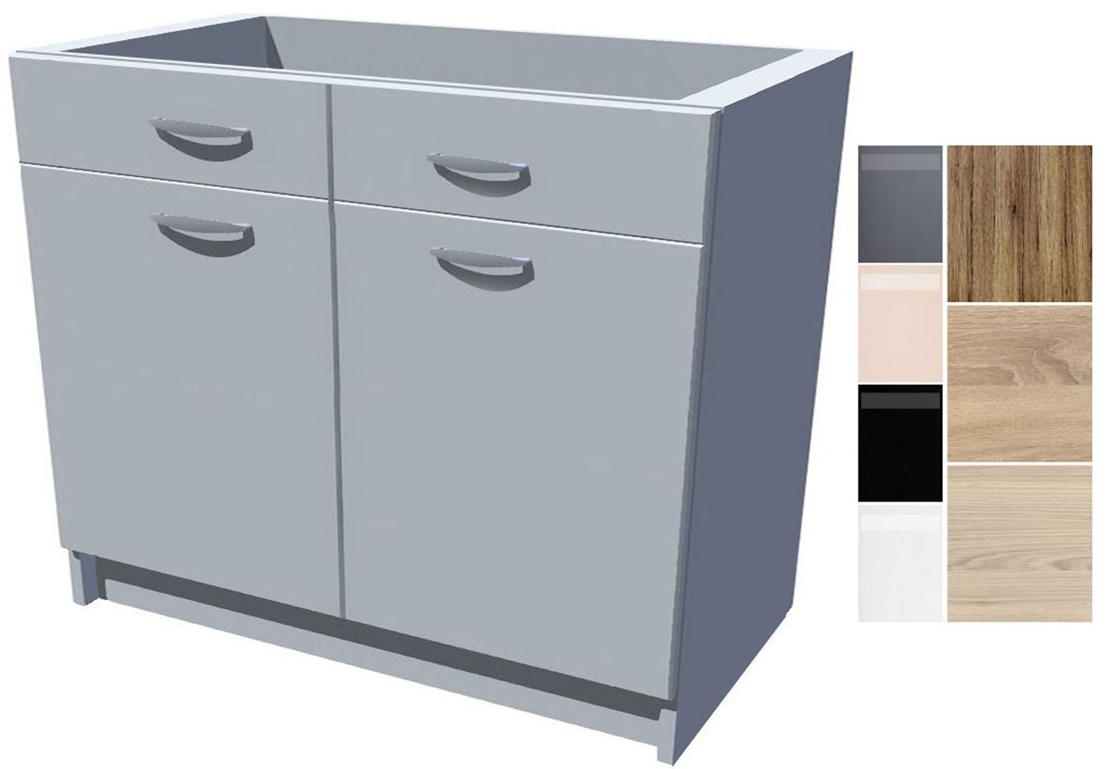 Dřezová kuchyňská skříňka Iga 2D 100 cm