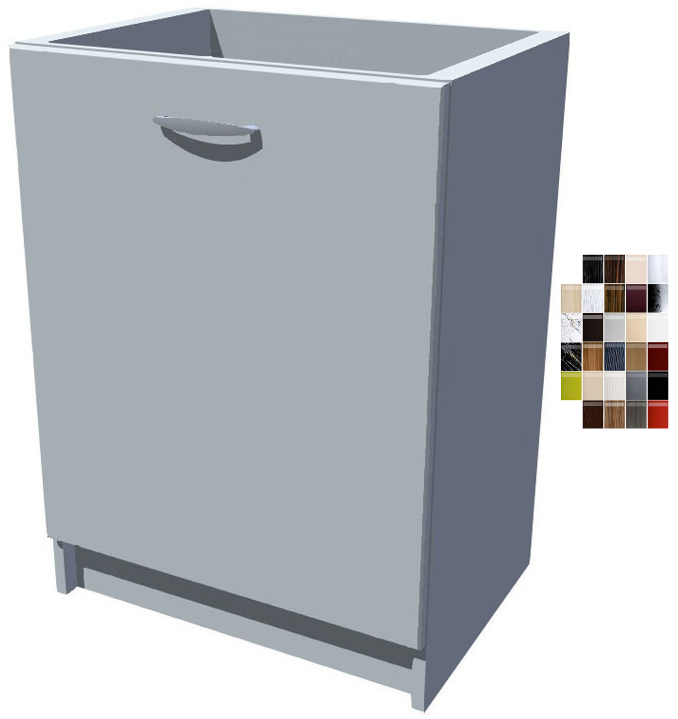 Lesklá dřezová kuchyňská skříňka 50 cm 1D