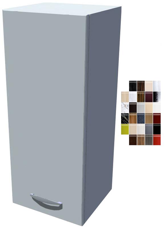 Lesklá horní skříňka 30 cm